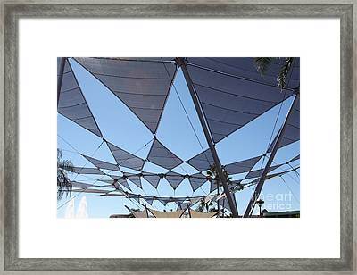 Framed Print featuring the photograph Triangle Sky by Chris Thomas