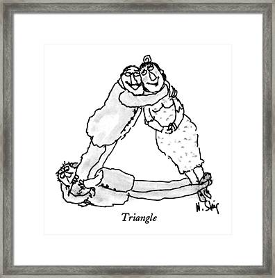 Triangle Framed Print by William Steig