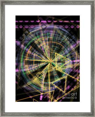 Triangles 1 Framed Print by Jose Benavides