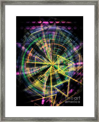 Triangles 2 Framed Print by Jose Benavides