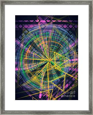 Triangles 3 Framed Print by Jose Benavides