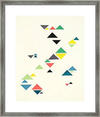 Triangles Framed Print by Cassia Beck