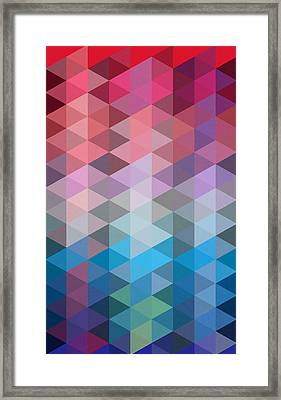 Triangles Framed Print by Mark Ashkenazi