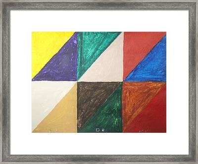 Triangles Framed Print by Stormm Bradshaw