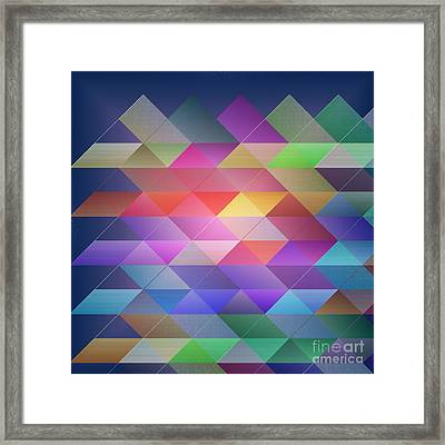 Triangles Structure Framed Print by Gaspar Avila