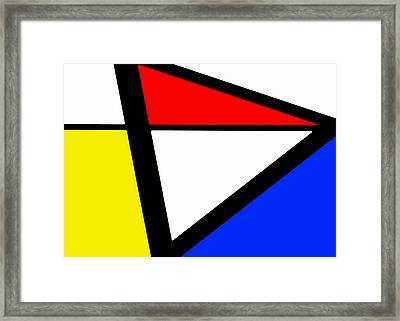 Triangularism I Framed Print