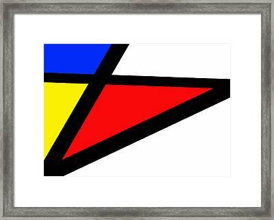Triangularism II Framed Print by Richard Reeve
