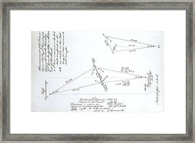 Triangulation Calculation Framed Print