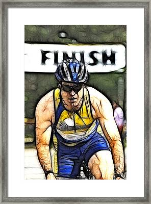 Triathalon Competitor Framed Print by Bob Christopher