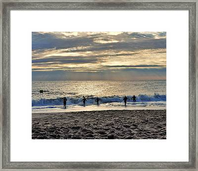 Triathalon Framed Print