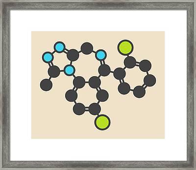 Triazolam Insomnia Drug Molecule Framed Print