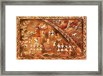 Framed Print featuring the painting Tribal Art by Geeta Biswas