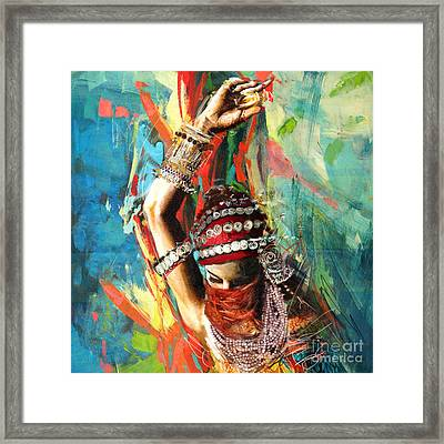 Tribal Dancer 1 Framed Print