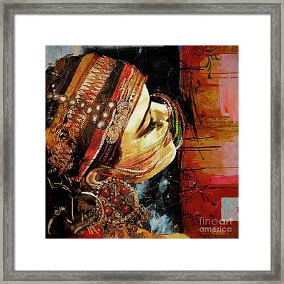 Tribal Dancer 3 Framed Print by Mahnoor Shah