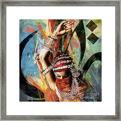 Tribal Dancer 4 Framed Print by Mahnoor Shah