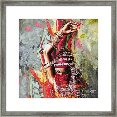 Tribal Dancer 5 Framed Print by Mahnoor Shah