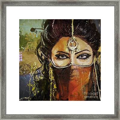 Tribal Dancer 6 Framed Print by Mahnoor Shah