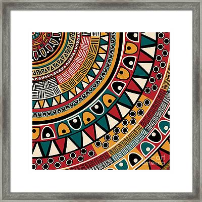 Tribal Ethnic Background Framed Print by Richard Laschon