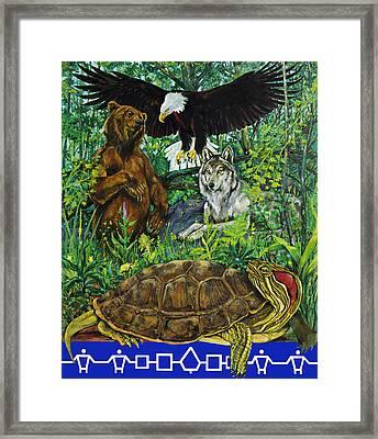 Tribal Gathering Framed Print by Derrick Higgins