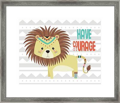 Tribal Lion Framed Print by Tamara Robinson