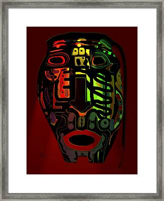 Tribal Mask Framed Print by Natalie Holland