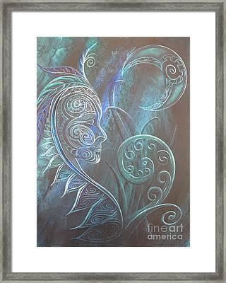 Tribal Moon Goddess Rua Framed Print