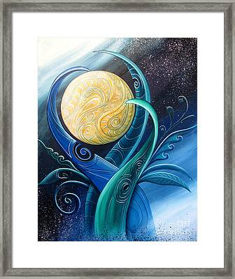 Tribal Moon Framed Print by Reina Cottier