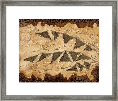 Tribal  Framed Print by Nickie Bradley