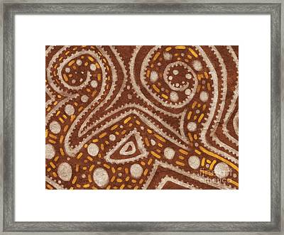 Tribal Painting Framed Print by Pixel Chimp