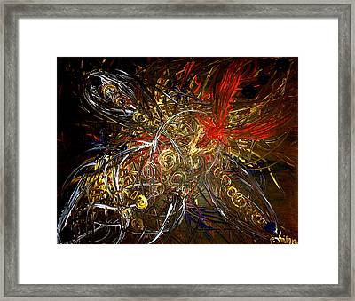 Tribal Phoenix Sword Framed Print by Pretchill Smith