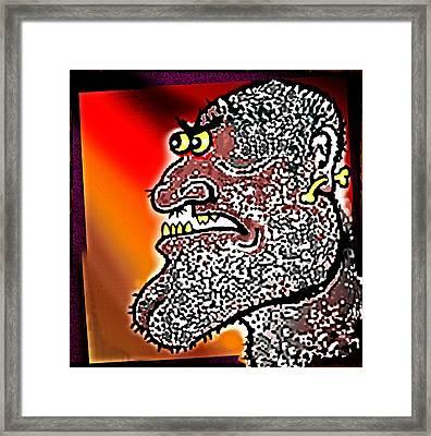 Tribal  Thinker Framed Print by Hartmut Jager