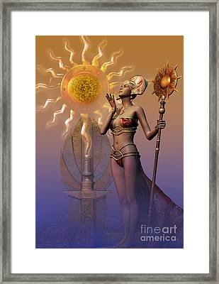 Tribal Time Keeper Framed Print by Shadowlea Is