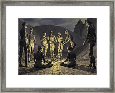 Framed Print featuring the digital art Tribe by John Alexander