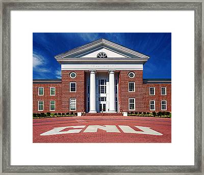 Trible Library Christopher Newport University Framed Print