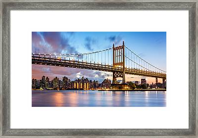Triboro Bridge At Dusk Framed Print