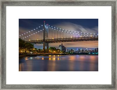 Triboro Bridge Framed Print by Mihai Andritoiu
