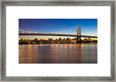 Triborough From Queens Framed Print by Chris Halford