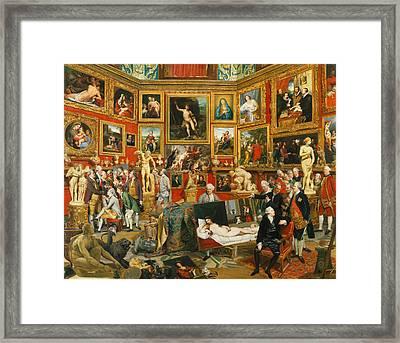 Tribuna Of The Uffizi Framed Print by Johann Zoffany