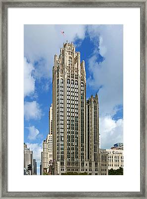 Tribune Tower - Beautiful Chicago Architecture Framed Print by Christine Till