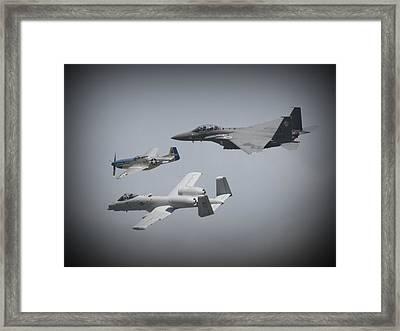 Tribute Flight Wafb 09 Tribute Flight Framed Print by David Dunham