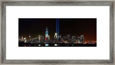 Tribute In Light From Bayonne Framed Print by Nick Zelinsky