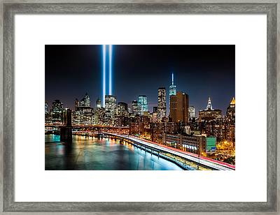 Tribute In Light Memorial Framed Print