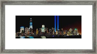 Tribute In Light Memorial Framed Print by Nick Zelinsky