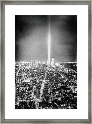 Tribute In Light - New York City Framed Print by Vivienne Gucwa