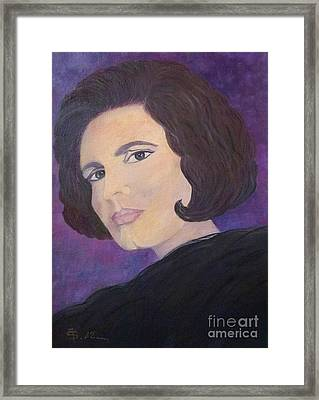 Tribute To Amalia Rodrigues The Queen Of Fado Framed Print