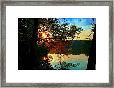 Tribute To Bob Ross Framed Print by Valerie  Avalos