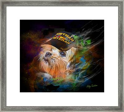 Tribute To Canine Veterans Framed Print