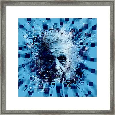 Tribute To Genius 2 Framed Print