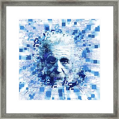 Tribute To Genius Framed Print