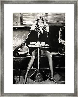 Tribute To Helmut Newton Framed Print